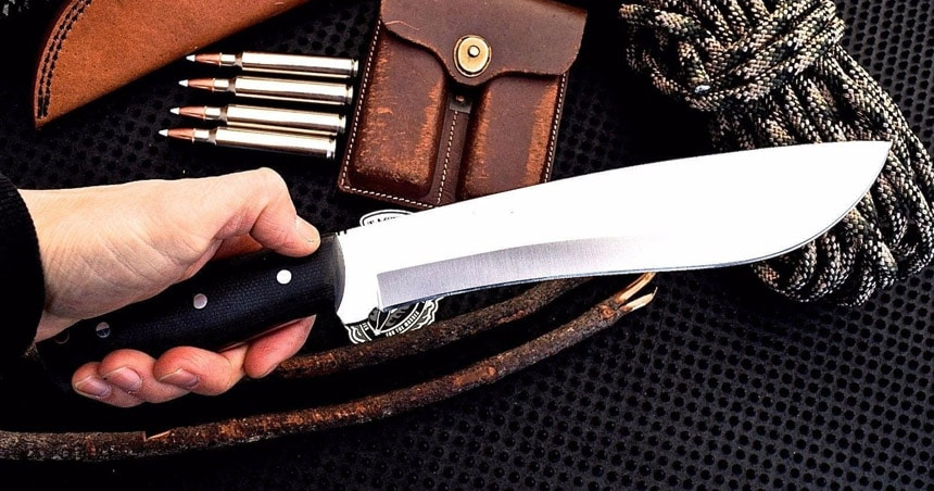 Machete and outdoor chopping knife.